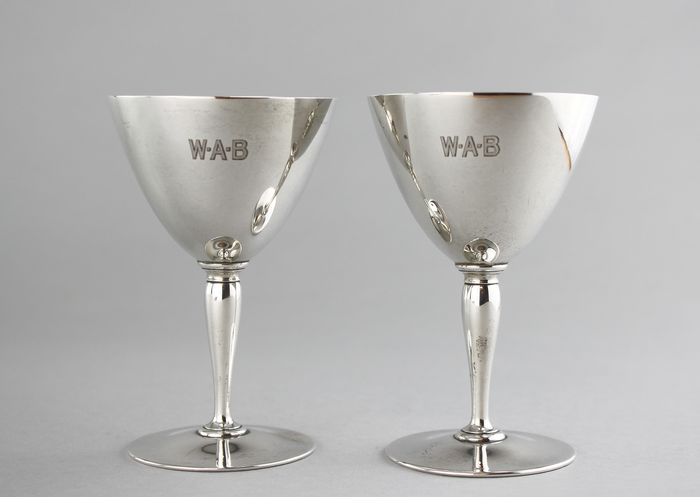 Goblet (2) - .925 silver - Tiffany & Co. - U.K. - 1915