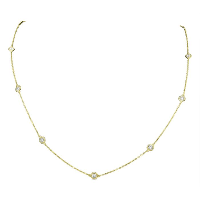 14 kt. Yellow gold - Necklace - 1.00 ct Diamond