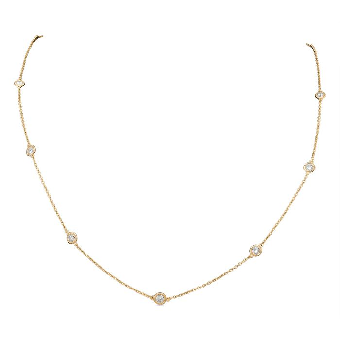 14 kt. Pink gold - Necklace - 1.00 ct Diamond