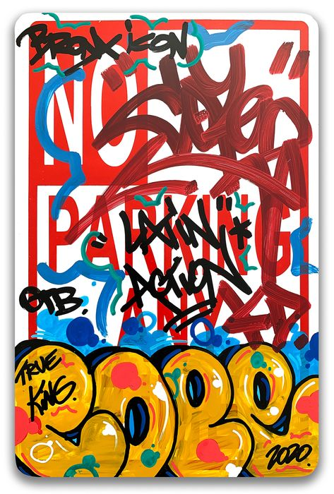 """COPE2 - """"Bronx Icon"""" No Parking Sign"""