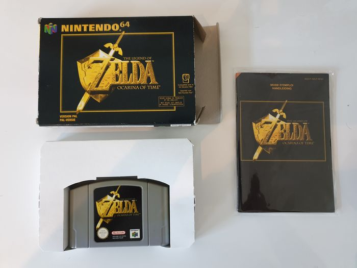 Nintendo 64 The Legend Of Zelda Ocarina Of Time PAL N64  - Videojuegos - En la caja original