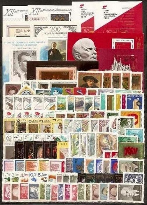 União Soviética 1976/1977 - сomplete year sets, miniatures and small sheets - Michel 4439/4691