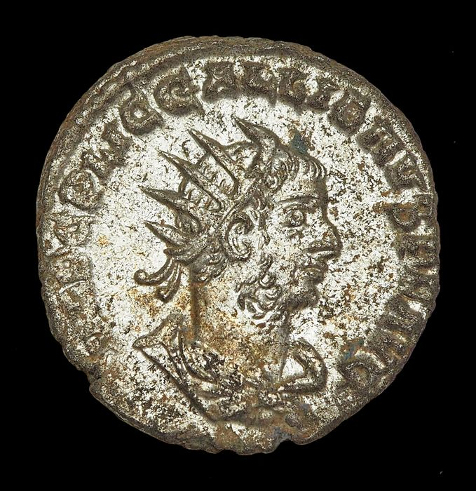 Império Romano - AR Antoninianus, Gallienus (AD 253-268). Samosata mint. 2nd emission, AD 256-260 - The two emperors