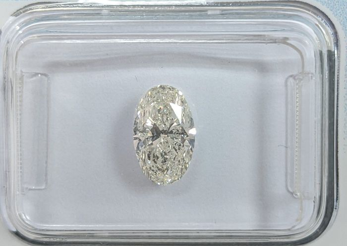 Diamant - 1.02 ct - Oval - K - SI2, IGI Antwerp