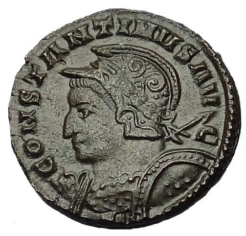 Roman Empire - AE Follis, Constantine I (306-337 AD) - C, 311-312 AD - London Mint - BOURTON ON THE WATER HOARD