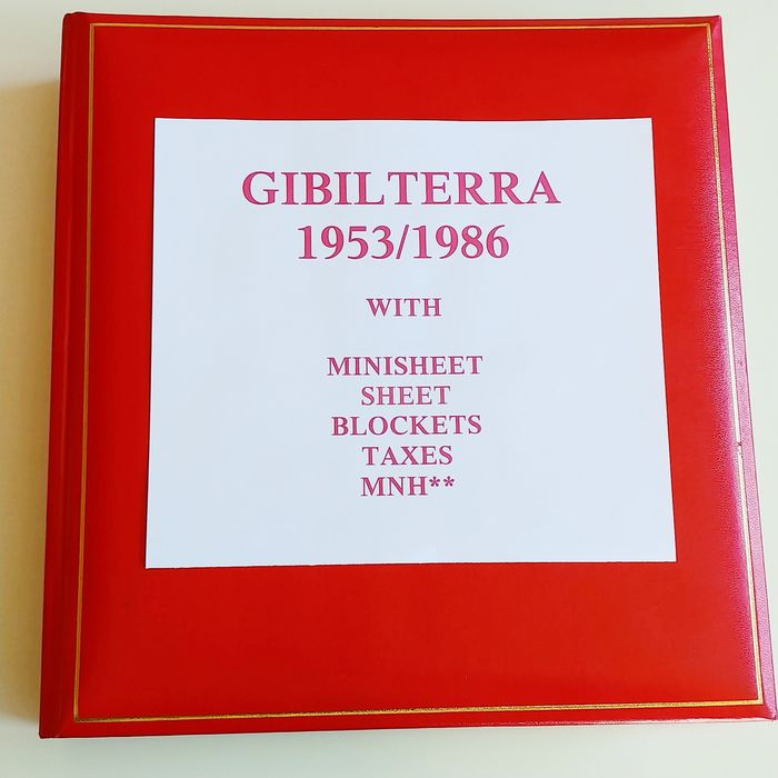 Gibraltar 1953/1986 - Complete collection with souvenir sheets, minisheets, postage-due stamps and booklets