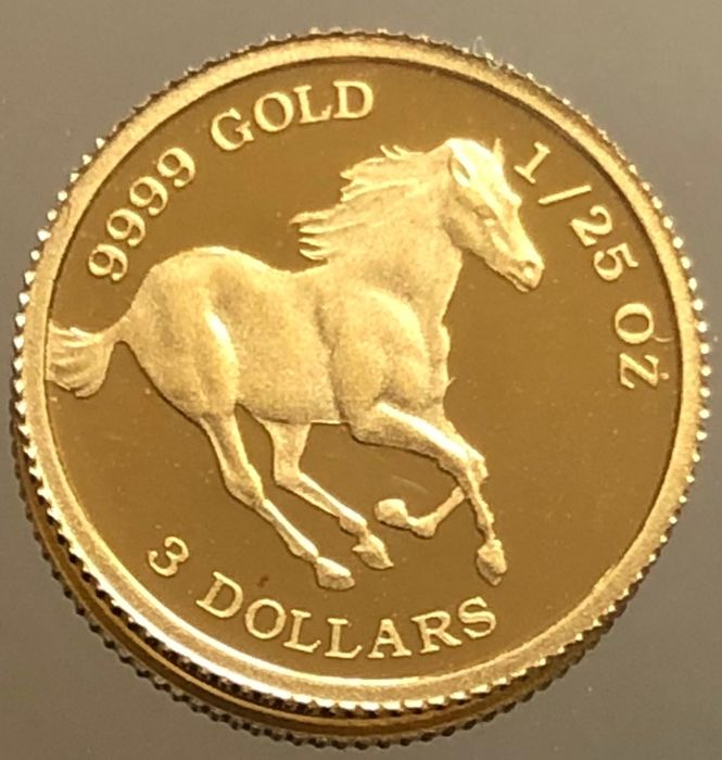Tuvalu - 3 Dollar 2006 *Year of the horse* 1/25 oz - Or