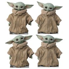 Star Wars - The Mandalorian - The Child (Baby Yoda)  - Disney / Lucasfilm - Set of 4 - Cardboard Cut Outs (38 x 45 cm) - Each one has a different look