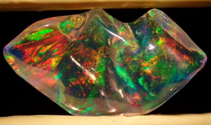Very Rare Perfect Mexican Fire Opal Crystal 4.210ct - 18.15×10.19×6.52 mm - 0.842 g