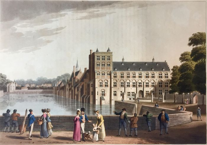 Netherlands, Zuid-Holland, Den Haag; R. Bowyer - View at The Hague - 1801-1820