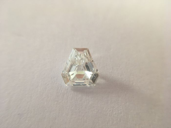 1 pcs Diamante - 0.36 ct - escudo cortado - F - SI1