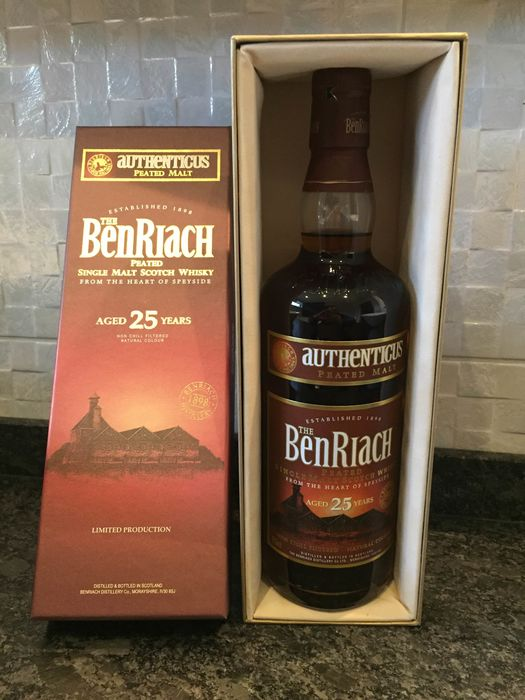 Benriach 25 years old Authenticus peated - Original bottling - 70cl