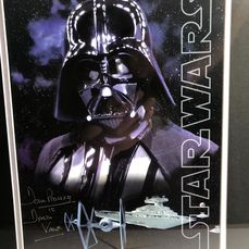 Star Wars  -  Dave Prowse as Darth Vader - Foto, Handtekening