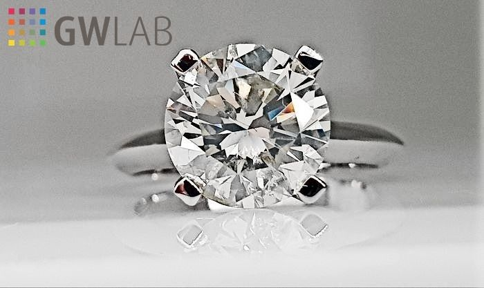 18 karaat Witgoud - Ring - 3.01 ct Diamant - Geen reserve