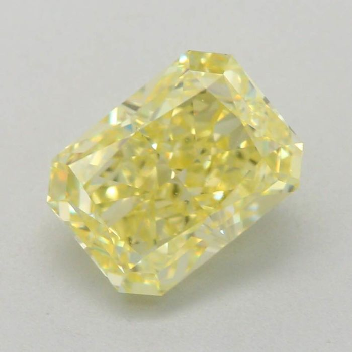 1 pcs Diamant - 1.09 ct - Radiant - fancy light yellow - VS1