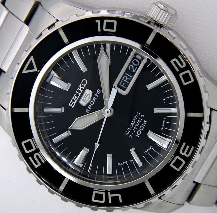 "Seiko - Automatic 23 Jewels 100M ""50 Fathoms"" Black - - Men - 2019"