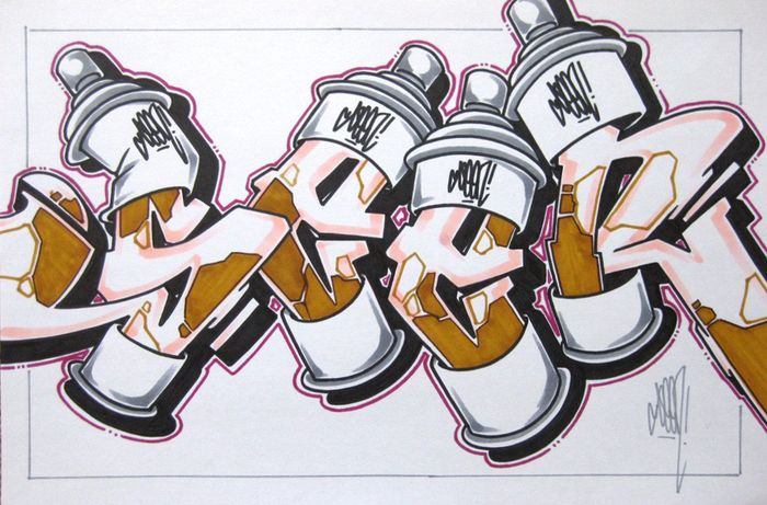 SEEN (Richard Mirando) - Cans Drawing - Large
