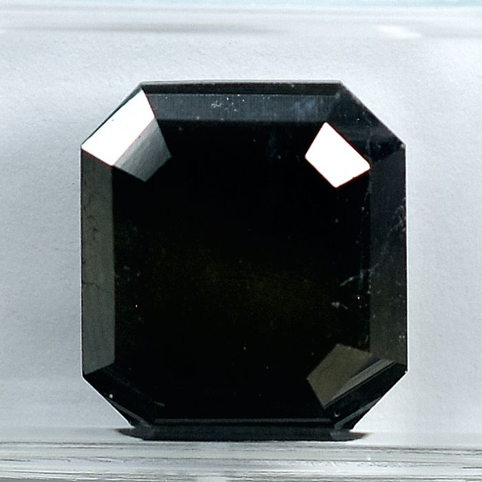 Diamant - 5.45 ct - Smaragd - Black - N/A