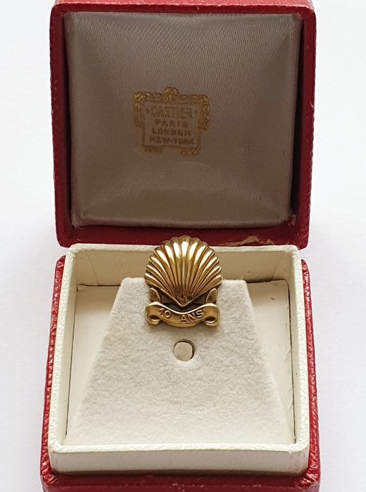 Cartier - 925 Silver, gold plated - buttonhole