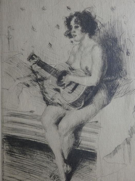 Anders Zorn ( 1860, 1920 ) - The guitar-player
