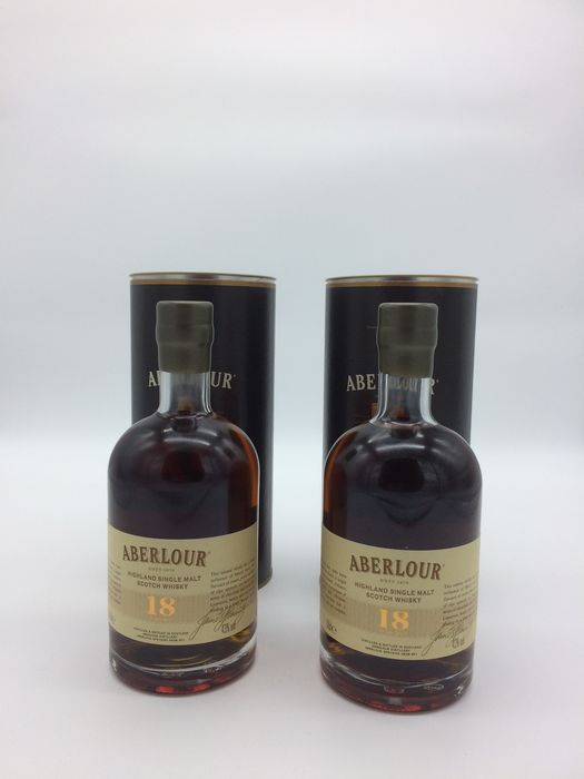 Aberlour 18 years old - Original bottling - 50cl - 2 bouteilles