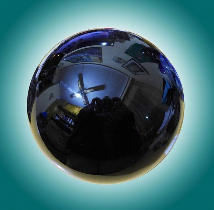 Obsidian sphere Black Mexican Polished - 100×100×100 mm - 1240 g