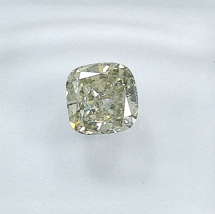 Diamant - 0.55 ct - Cushion - Faint Gray - VS2