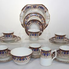 Antique Beswick & Sons - Warwick China - Tea set for 6 (21) - Porcelain