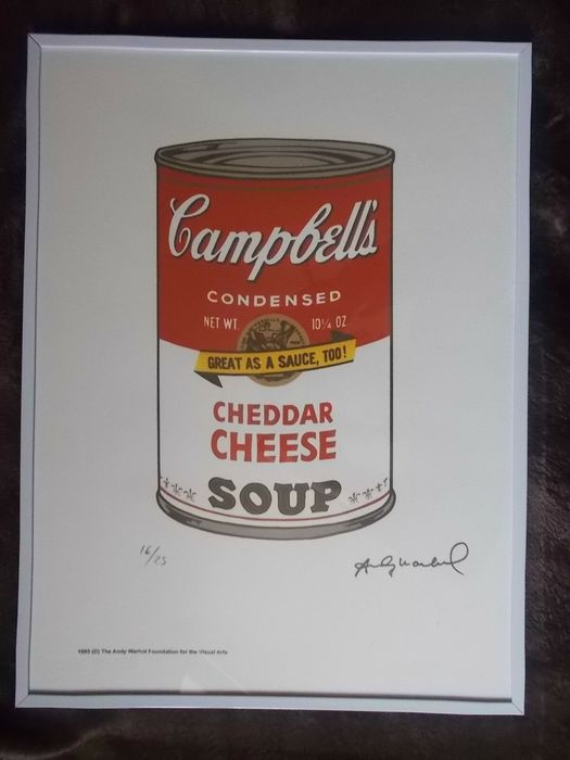 Andy Warhol - Campbell's Cheddar Cheese Soup
