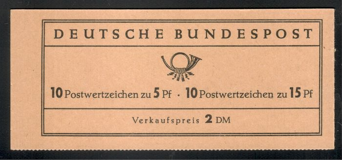 "Germany - Federal Republic 1963 - Stamp booklet ""Albertus / Luther"" as rare variety - Michel MH 8 II"
