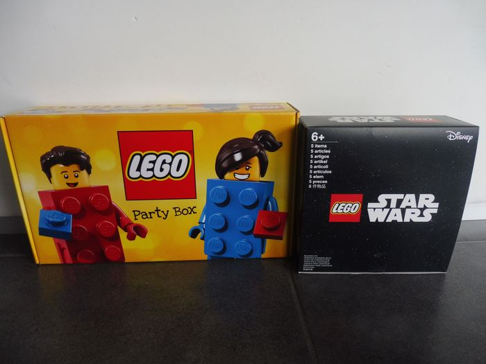 LEGO - Promotional - 40268 30496 40298 853603 darth vader poly. - rare Mysterybox + partybox