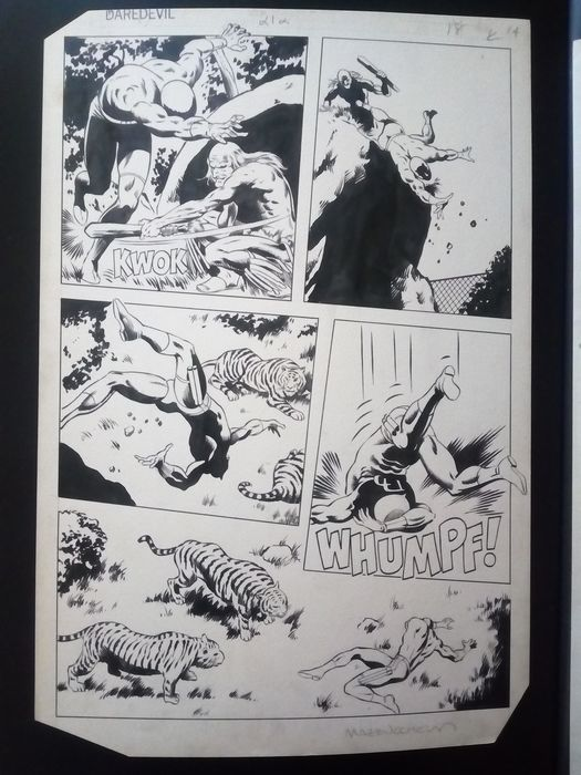 Daredevil #212 - Page 15 - Original page by Mazzucchelli - First edition - (1984)