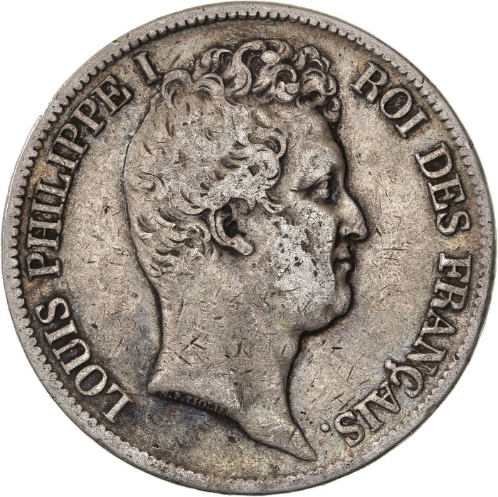 France - 5 Francs 1831-K Louis Philippe I - Silver