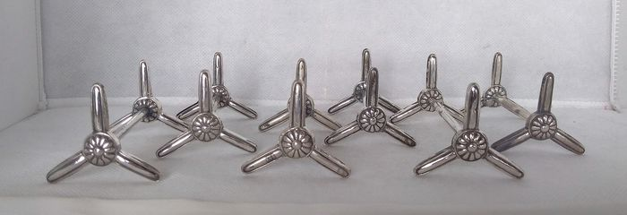 Knife rests  (6) - .800 silver - Europe - Early 20th century