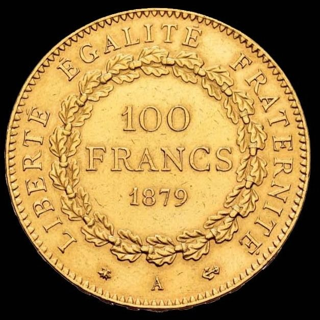 100 Francs 1879-A Genius - Or