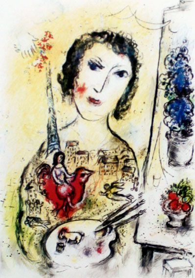 Marc Chagall (after) - Portrait