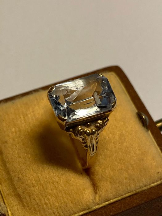 18 carats Or jaune - Bague - 6.00 ct Spinelle