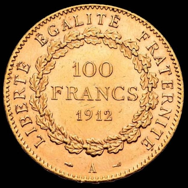 100 Francs 1912-A Genius - Or