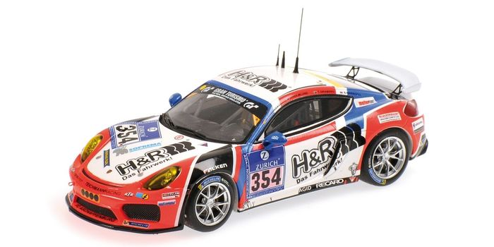 MiniChamps - 1:43 - Porsche Cayman GT4 Clubsport Teichmann Racing #354 24h Nürburgring 2016 - Limited Edition of 144 pcs.