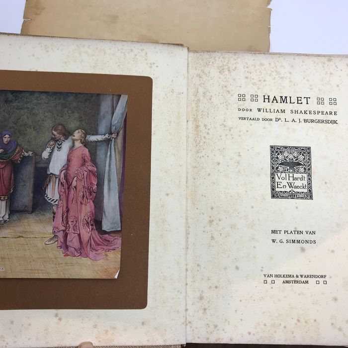 William Shakespeare / W.G. Simmonds  - Hamlet (limited Dutch edition, 253 of 350 copies) - 1910