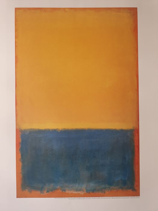 ROTHKO - YELLOW AND BLUE ON ORANGE - 1998