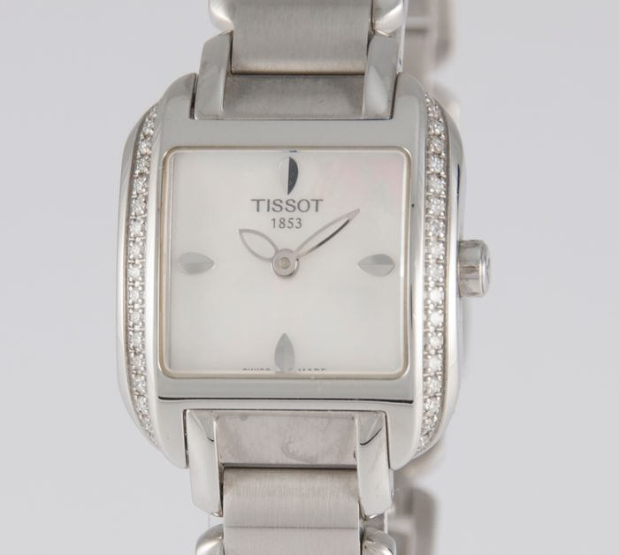 Tissot - T-Wave Ladies Steel and Diamonds Square MOP Dial - T02.1.385.82 - Unisexe - 2000-2010