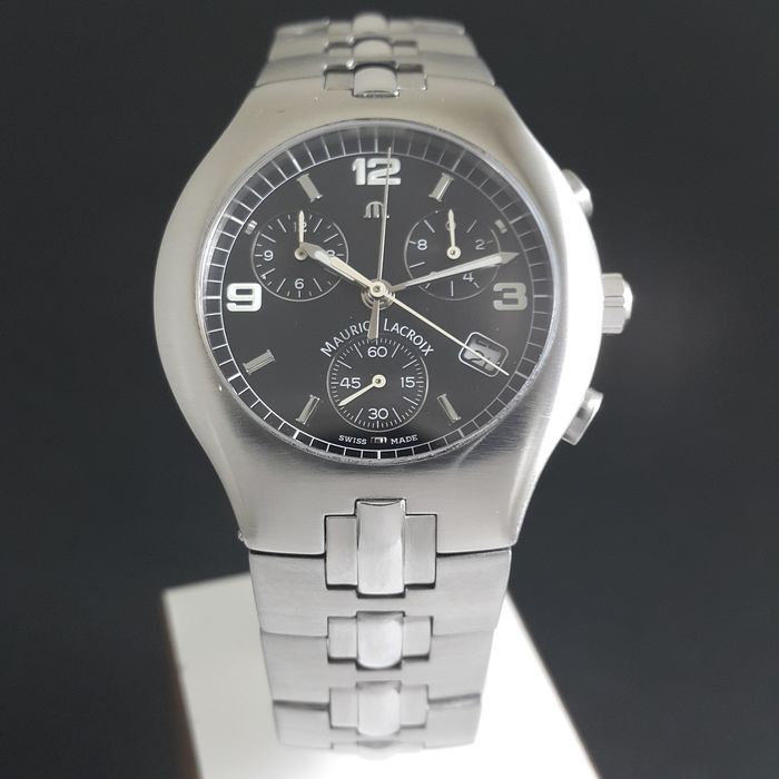 "Maurice Lacroix - ""NO RESERVE PRICE"" Siras Edelstahl Chronograph - 04853 - Homme - 2000-2010"