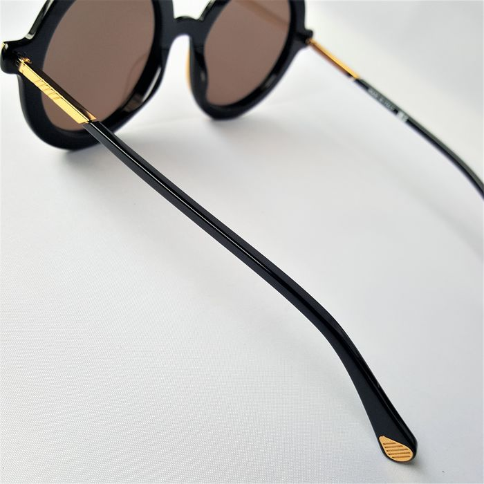 ill.i Optics by Will.i.am Pilot Aviator Round Gold Black Double Bridge 2020 Made in Italy New Solbriller Catawiki