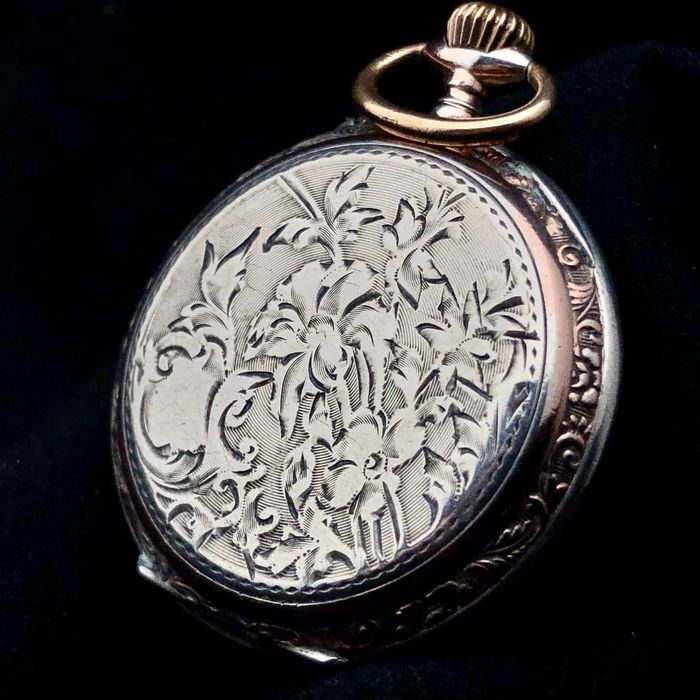 Decorated Silver Pocketwatch - NO RESERVE PRICE - Senhora - 1850-1900