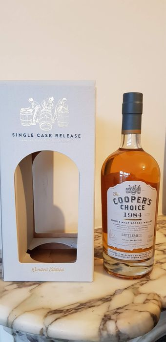 Littlemill 1984 32 years old single cask for La Boutique du Chemin Brussels - Cooper's Choice - b. 2016 - 700ml