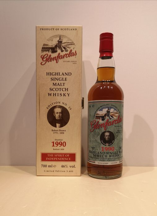 Glenfarclas 1990 Robert Brown Oloroso Sherry Casks - Original bottling - b. 2020 - 70cl