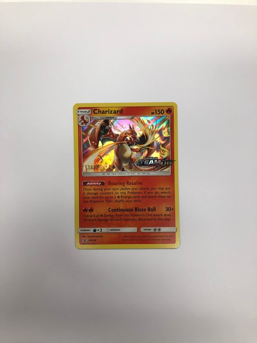 Charizard SM158 Staff Mint Condition - Trading card