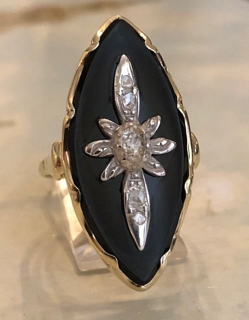 14 kt. Silver, Yellow gold - Ring - 0.30 ct Diamond