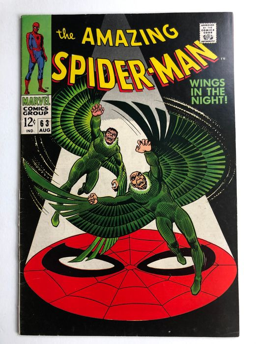 The Amazing Spider-Man #63 - Vulture (Adrien Toomes) & Vulture (Blackie Drago) Appearance - Difficult Issue - Higher Grade!! - Softcover - First edition - (1968)